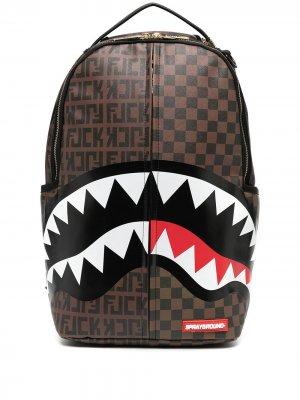 Рюкзак асимметричного силуэта Sprayground. Цвет: коричневый