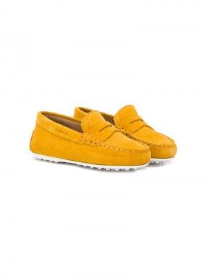 Tods Kids мокасины Gommino Tod's. Цвет: желтый