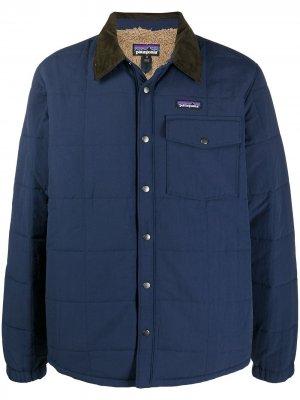 Стеганая куртка-рубашка Isthmus Patagonia. Цвет: синий
