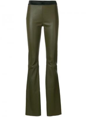 Расклешенные брюки Drome. Цвет: зеленый