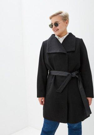 Пальто Junarose. Цвет: черный