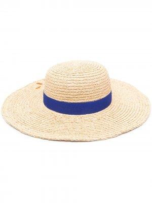 Соломенная шляпа Hello PAUL SMITH. Цвет: нейтральные цвета