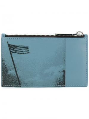 Кошелек с американским флагом Calvin Klein 205W39nyc. Цвет: синий