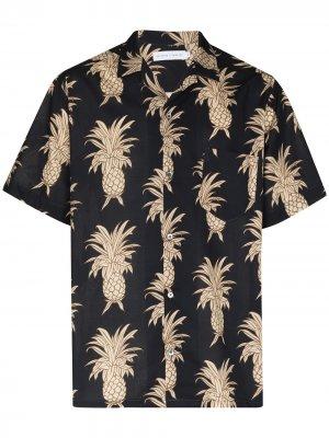 Пижамная рубашка с принтом Desmond & Dempsey. Цвет: синий