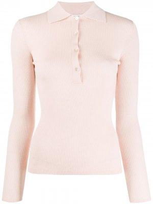 Рубашка поло тонкой вязки P.A.R.O.S.H.. Цвет: розовый