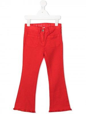 Расклешенные джинсы Stella McCartney Kids. Цвет: красный