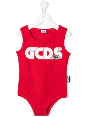 Боди с логотипом Gcds Kids. Цвет: красный