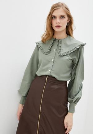 Блуза Imocean. Цвет: зеленый