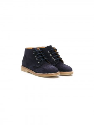 Ботинки на шнуровке Gallucci Kids. Цвет: синий
