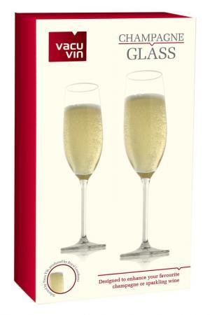 Бокалы для игристых вин, 2 шт. Vacu Vin. Цвет: бесцветный
