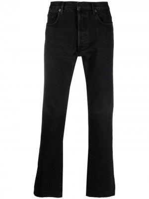 Прямые джинсы 2010-х годов Christian Dior. Цвет: черный
