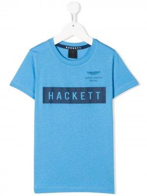 Футболка из коллаборации с Aston Martin Hackett Kids. Цвет: синий