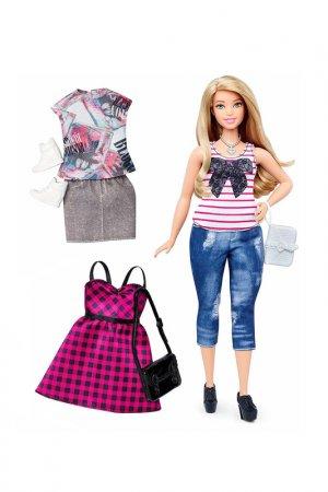 Блондинка с одеждой Barbie. Цвет: фиолетовый