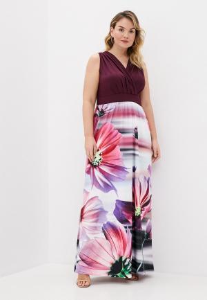 Платье Ulla Popken. Цвет: разноцветный