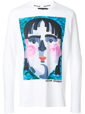 Banban print sweatshirt House Of Holland. Цвет: белый