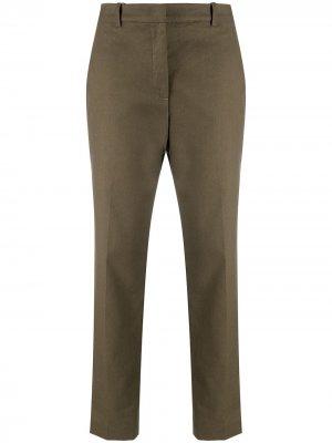 Зауженные брюки строгого кроя Aspesi. Цвет: зеленый