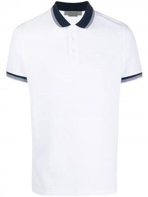 Рубашка поло с контрастным воротником Corneliani. Цвет: белый