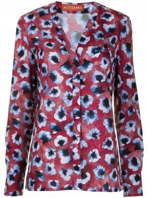 Блузка Martalas с цветочным принтом Altuzarra. Цвет: красный