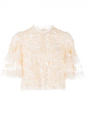 Блузка Aurelia с пайетками Needle & Thread. Цвет: нейтральные цвета