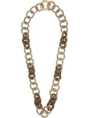 Tiger eye necklace Rosantica. Цвет: металлик
