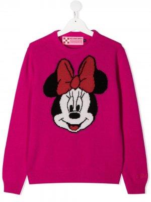 Джемпер Minnie Mouse вязки интарсия Mc2 Saint Barth Kids. Цвет: розовый