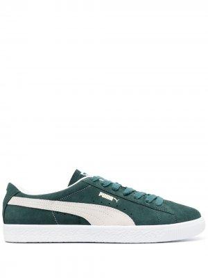 Кеды VTG на шнуровке Puma. Цвет: зеленый