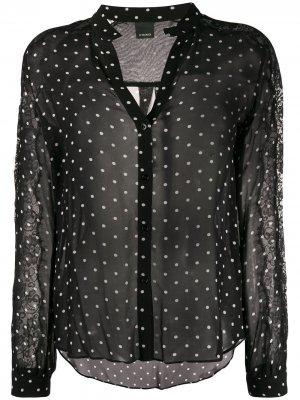 Рубашка в горох Pinko. Цвет: черный