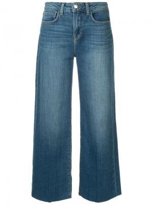 Широкие джинсы L'agence. Цвет: синий