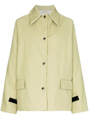 Куртка на пуговицах с длинными рукавами KASSL Editions. Цвет: зеленый
