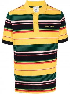 Рубашка поло в стиле колор-блок Lacoste. Цвет: желтый