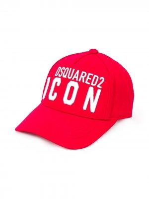 Кепка Icon с логотипом Dsquared2 Kids. Цвет: красный