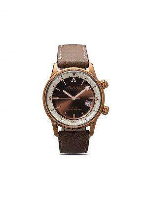 Наручные часы Seastrong Heritage Diver 42 мм Alpina. Цвет: коричневый-белый
