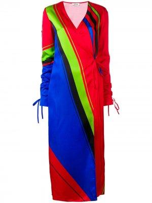 Платье-халат с принтом The Attico. Цвет: красный