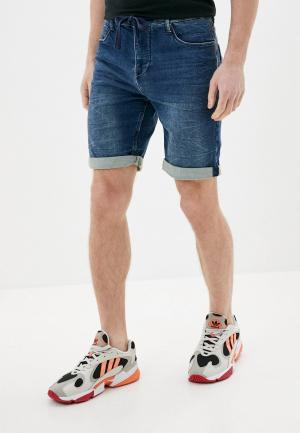 Шорты джинсовые Sublevel. Цвет: синий