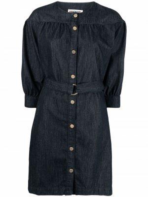 Джинсовое платье-рубашка Essentiel Antwerp. Цвет: синий