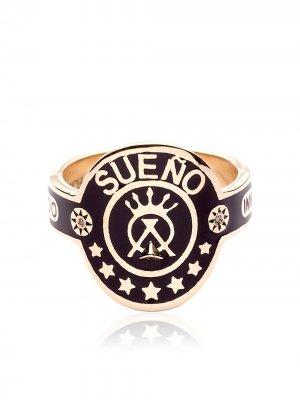 Кольцо Dream из желтого золота Foundrae. Цвет: золотистый