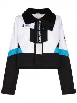 Куртка с капюшоном MISBHV. Цвет: синий