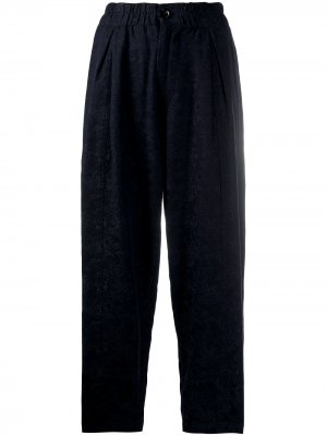 Фактурные зауженные брюки YMC. Цвет: синий