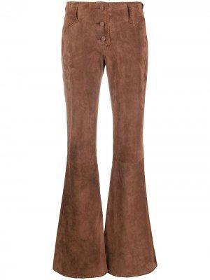 Расклешенные брюки с завышенной талией KNWLS. Цвет: коричневый