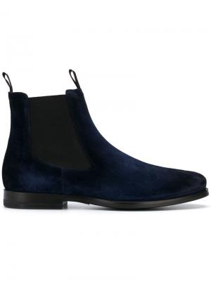 Ботинки челси Santoni. Цвет: синий