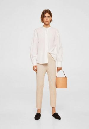 Рубашка Mango. Цвет: белый