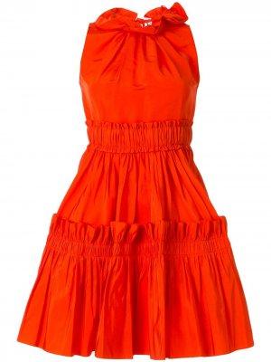 Ярусное платье мини Dice Kayek. Цвет: оранжевый