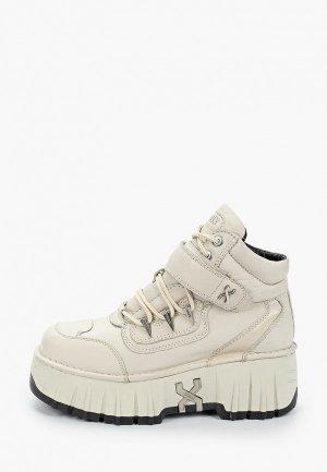 Ботинки Bronx. Цвет: бежевый