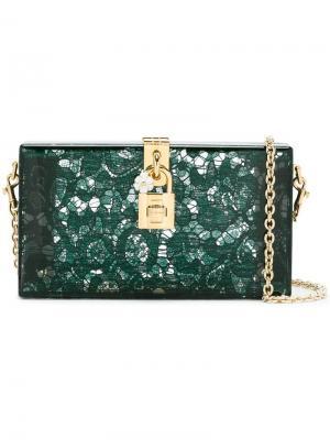 Клатч-бокс Dolce & Gabbana. Цвет: зеленый