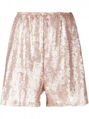 Широкие брюки Lia с пайетками Alchemy. Цвет: золотистый
