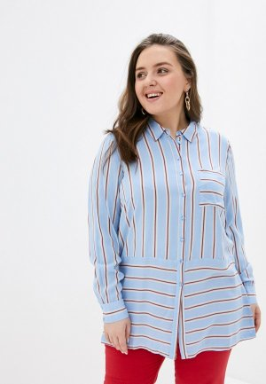 Блуза Vero Moda Curve. Цвет: голубой