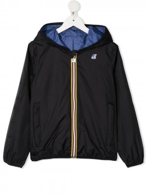 Куртка с капюшоном и нашивкой-логотипом K Way Kids. Цвет: черный
