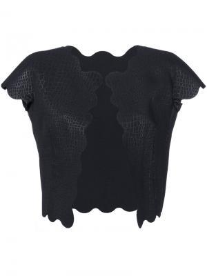 Жилетка с перфорацией и тиснением под крокодиловую кожу Comme Des Garçons Pre-Owned. Цвет: черный