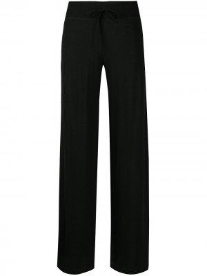 Трикотажные расклешенные брюки Malo. Цвет: черный
