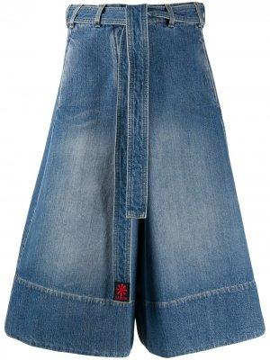 Джинсовое платье с поясом LANVIN. Цвет: синий